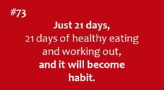 In just 21 days of your life you will begin to see results too!!! Another reason to make it a habit:) Let me help you get started- Sign up for Fit Camp today! www.mellifit.com (starts: 7/22)