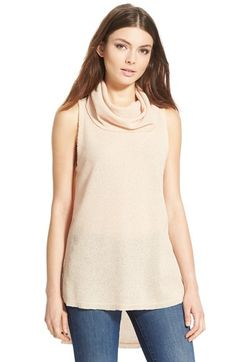 Free shipping and returns on ASTR Turtleneck Sleeveless Sweater at Nordstrom.com. A drapey turtleneck tops a richly textured sleeveless sweater styled with raw-edge trim and an extra-long, split high/low hem.