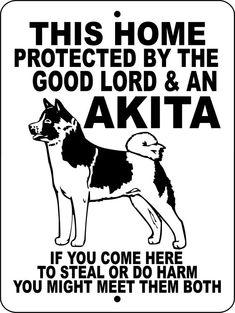 AKITA Dog Sign 9x12 ALUMINUM GLAKITA by animalzrule on Etsy