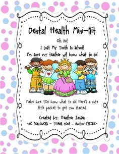 Dental Health Mini Pack - Missing/Lost Tooth - FREEBIE