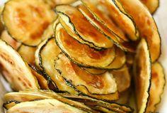 Chips de calabacín (zapallo italiano) rebozado al horno