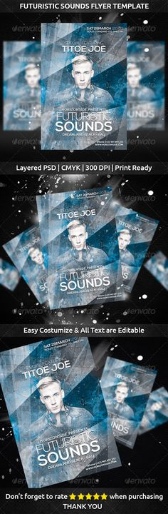 Blue Night Sounds Flyer Template  TyxgbAjThis Festivals And