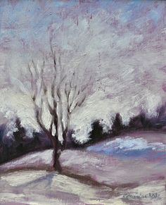 """Twenty Below"", 8x10 Oil on Canvas by Christy Michalak, Canada: current location Toronto, Ontario"