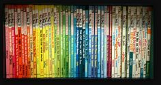 Its Dr. SUESS and its organized by color.....my OCD is in love with this photo