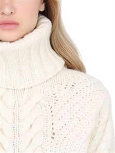 Chunky Cable Knit Sweater, White Turtleneck, Thick Sweaters, Luxury Shop, Must Haves, Knitwear, Tommy Hilfiger, Turtle Neck, Pullover