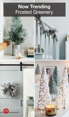 From wreaths to trees to garlands, holiday decor gets a frosty update with flocked details. Merry Little Christmas, Cozy Christmas, Rustic Christmas, Christmas Holidays, Christmas Crafts, Christmas Trees, Christmas Decorations For The Home, Christmas Tree Decorations, Holiday Decor