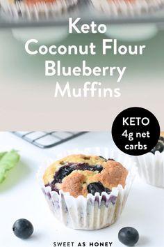Keto Blueberry Muffins, Blue Berry Muffins, Keto Desert Recipes, Sweet Recipes, Keto Dessert Easy, Dessert Recipes, Dip Recipes, Dinner Recipes, Low Carb Desserts