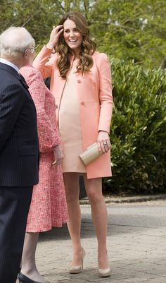 Very Very Popular! From Our Royal Preganncy Board: Peach Melba-gorgeous summer maternity fashion #Royalpregnancy #pregnancy