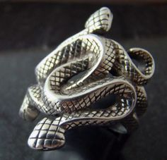 Natural Born Killers snake ring silver plated size 9.5 | eBay