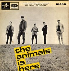 The Animals is Here. Limited edition Record Store Day 10 reissue - the first vinyl reissue since 1964 House of the Rising Sun Gonna Send You Back to Walker Im Crying Baby Let Me Take You Home Greatest Album Covers, Classic Album Covers, Music Album Covers, Music Albums, Vinyl Cd, Vinyl Records, Rock And Roll, Eric Burdon, House Of The Rising Sun