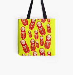 'Russian Matryoshka Doll With Big Boobs!' Tote Bag by loveplasticpam Funny Russian, Russian Humor, Large Bags, Small Bags, Cotton Tote Bags, Reusable Tote Bags, Matryoshka Doll, Free Stickers, Medium Bags
