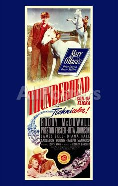 Original Print Ad 1943 Movie Artwork My Friend Flicka Roddy Mcdowell Professional Design Merchandise & Memorabilia
