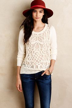 So, so cute.  I love the fit and exciting details so it's not a plain sweater.