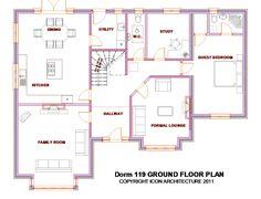 Split Level House Plans, Square House Plans, Metal House Plans, Bungalow House Plans, Modern Exterior, Exterior Design, South Facing House, Bungalow Conversion, House Designs Ireland