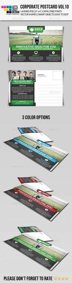Business Postcard Template by Leza on Creative Market Stuff to - postcard template