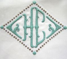The perfect website for ordering monograms! juliab.com