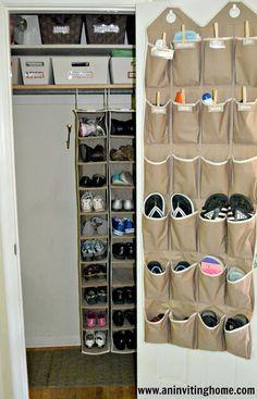 Front closet shoe organization...
