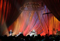 concert stage backdrops with fabric | Rose Brand: Largent Studios - Yahoo! Nissan Live Sets - Coldplay ...