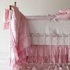 Bella Notte Linens Linen Whisper Baby Blanket~Via Lavender Fields