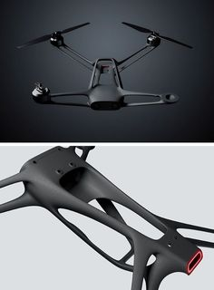 A skeleton inspired generative designed frame makes this drone incredibly lightweight yet strong ,