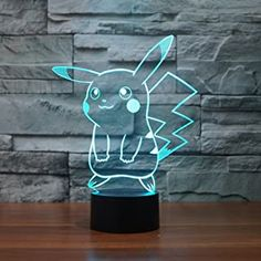 Pokemon Catch Em All Baby Children Nursery Table Lamp Night Light Touch Lamp