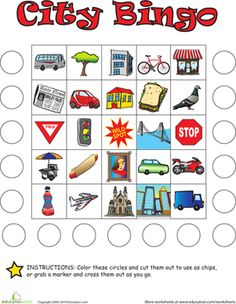 Like a visual treasure hunt, City Bingo is a fun alternative to I Spy. Your kindergartener will love searching for the items on her bingo card.