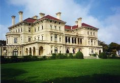 The Breakers:  Newport, RI 'cottage' of the very rich. Most Beaux Arts designs were architect-designed public or government buildings in the wealthy urban centers of the country (i.e. New York, Boston, etc.). Two perfect examples of the American Beaux-Arts style, The Grand Central Terminal and the New York Public Library, are located within a few blocks of each other in New York City. However, in the pre-income tax days (before government greed), the wealth of many were boastfully and…