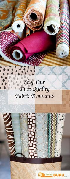 With the amount of fabric cut daily here at fabricguru.com, there are bound to be some pieces left over. Our remnant selection is made up of fabric that is 15 yards or below, mostly left over from first quality bolts, and all of our remnants are inspected in-house. So, come view our remnant selection at fabricguru.com: we know you'll find something that you love. #fabricguru