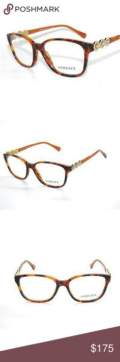 28f240d00e3d Versace Eyeglasses New and authentic Versace Eyeglasses Brown and gold frame  Original case included Versace Accessories Glasses