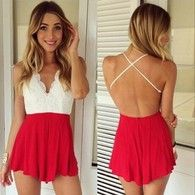 Cross Back Lace Jumpsuit