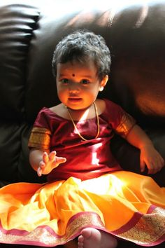 Eva in traditional kerala dress.