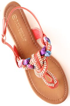 These lovely flat sandals feature a T-strap construction with low stacked wedge heel. The strap also features a braided design with rhinestone accents. Complete with lightly padded insole and adjustable strap with buckle closure. Exclusively at www.lollicouture.com #cute #colorblock #mint #black #buckle #fashion #fashionista #style #summer #lollicouture #welove
