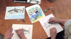 How to Draw a Shark with Chalk Pastels