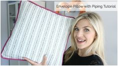 Envelope Pillow with Piping Tutorial - YouTube