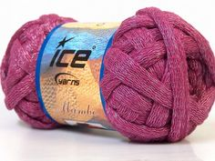 Bright Pink Chunky Cotton Arm Knitting Yarn Light by TheSnugglery