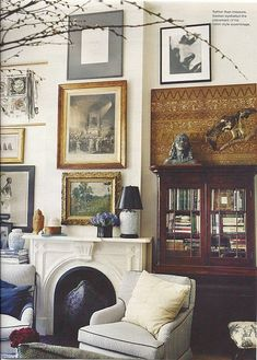 Marvelous Michael Bastian eclectic vintage traditional modern living room The post Michael Bastian eclectic vintage traditional modern living room… appeared first on Home Decor . Style At Home, Sweet Home, Living Spaces, Living Room, Cozy Living, Home Fashion, Men's Fashion, Fashion Design, Home And Living