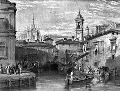 Boat Scene At Milan Drawing By Leitch Engraving By T Higham 1845 Greeting Card for Sale by Leitch William Leighton Urban Landscape, Landscape Art, Milan Navigli, Cityscape Art, Santa Teresa, Old Images, Art Database, Urban Life, Great Artists