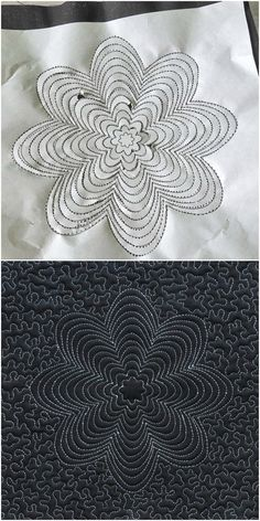 Quilting through paper- how to enjoy quilting on dark color or difficult fabrics. Click through and download 4 designs to practice.