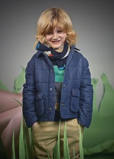 New shaped quilted boyswear jacket at Paul Smith Junior for fall 2014