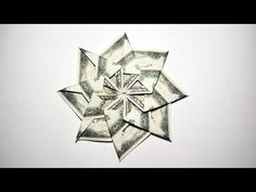 Beautiful Money ROSE with stem and leaf Origami Flower Dollar Tutorial DIY Folded No glue and tape Paper Hearts Origami, Origami Star Box, Origami Ball, Origami Stars, Origami Boxes, Origami Flowers, Origami Paper, Origami Ideas, Origami Tooth