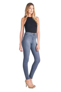 Parkers Jeans - High Waisted Grey Skinny Denim  #denim #grey #skinny #highwaisted #jeans #fashion #parkersjeans