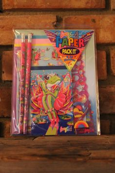 Ultra Rare SEALED Lisa Frank Stationary Paper Pack-It - Frog Princess Ballerina - Pencils, Erasers, Note Pad, Stickers, Stationery by TheKitschyCorner on Etsy https://www.etsy.com/listing/237469948/ultra-rare-sealed-lisa-frank-stationary