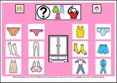MATERIALES - Tableros de Comunicación de 12 casillas.    Tablero de comunicación de doce casillas sobre ropa interior.    http://arasaac.org/materiales.php?id_material=224