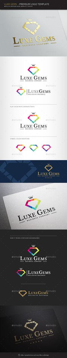 Luxe Gems Logo — Vector EPS #fine jewellery #diamond • Available here → https://graphicriver.net/item/luxe-gems-logo/8295194?ref=pxcr