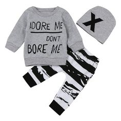 Pants Outfits DaySeventh Baby Kids Fashion Set Long Sleeve Printing Tracksuit Top