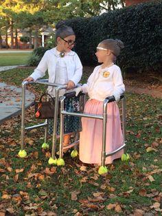 Old lady costume. Halloween costume.