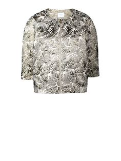 Palmtree jacquard jacket, Aniz  Fashion // clothing // woman // inspiration // www.dante6.com