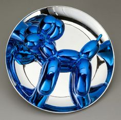 Image: Balloon Dog (Blue), 2002 by Jeff Koons, one of the young American artists making a mark in the global art sphere