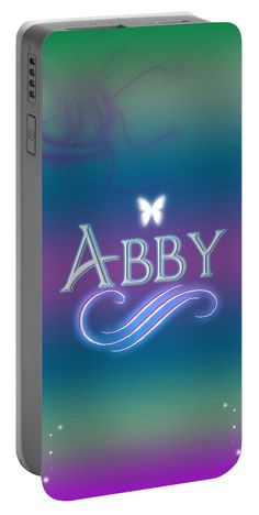 Abby Portable Battery Charger featuring the digital art Abby Name Art by Becca Buecher