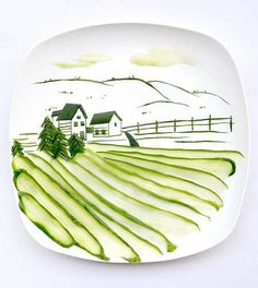 food crafted into artwork